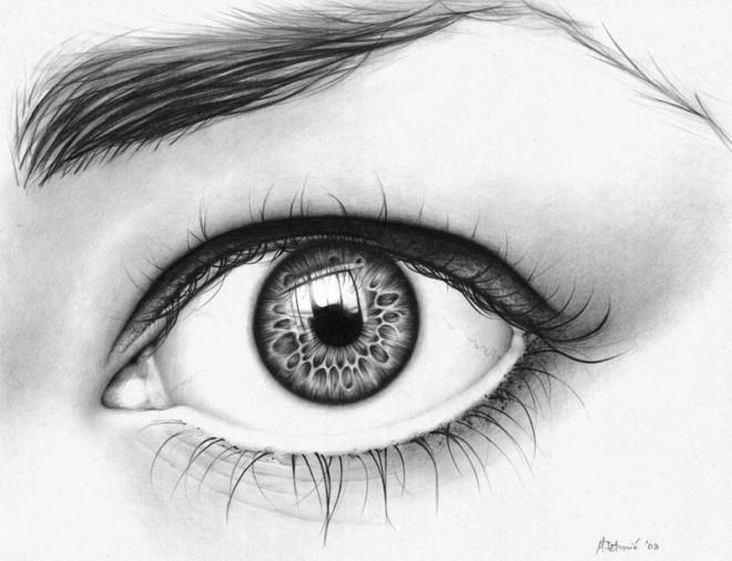20 asombrosos dibujos realistas de ojos hechos a lápiz - Arte Feed